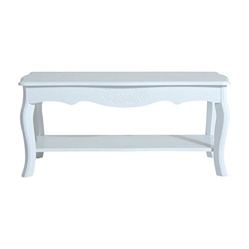 HOMCOM Coffee Tea Table Modern Living Room Wooden Furniture 2 Layer Design w/Storage Shelf