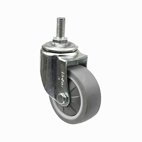 Wheel Industrial Silent Wheel mano rotella spinta Auto 2.5/3/4 pollici (Color : 2.5 inches, Size : No Brake)