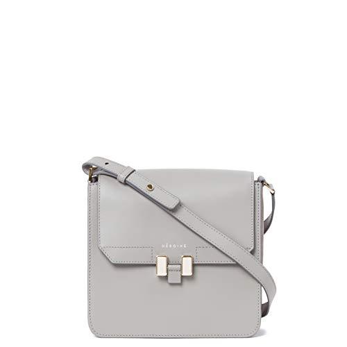 Maison Héroïne Tilda Tablet Mini | Crossbody Tasche | Handtasche | Damen | Grau/Pastello Rosé | Umhängetasche | Leder | Schultertasche | Gepolstertes Tablet Mini Fach -