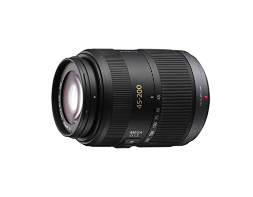 Panasonic Lumix Objectif Téléphoto pour capteur micro 4/3 45-200mm F4.0-5.6 H-FSA45200E (Zoom Puissant, Stabilisé, Tropicalisé, equiv. 35mm : 90-400mm) Noir - Version Française