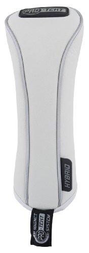 PRO-TEKT Headcover/ Schlägerhaube für Hybrid-Schläger, aus Kunstleder Weiß weiß -