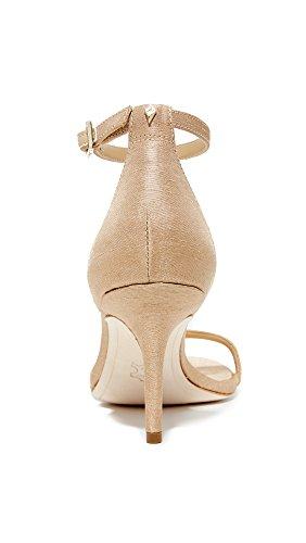 Sam Edelman Damen Patti Pumps Nude Silk Dupioni Fabric