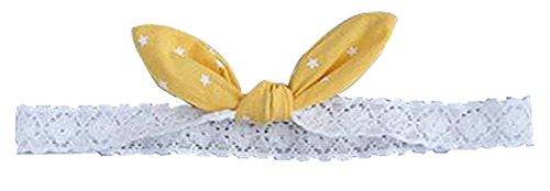 Mode Mignon Bow bébé Couvre-chef bébé cheveux bande jaune