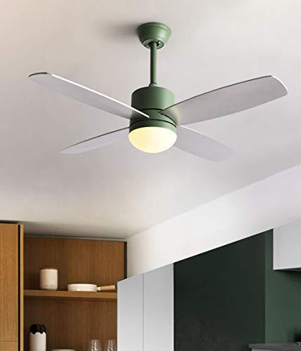 Jinjin Luce del Ventilatore da soffitto Invisibile Soggiorno Moderno e Minimalista Camera da Letto Sala da Pranzo Ventilatore a soffitto con LED Ventilatore Elettrico lampadario casa Fan Light,Green