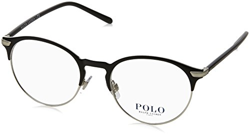 Polo Ralph Lauren - PH 1170, Rund, Metall, Herrenbrillen, MATTE BLACK(9267 A), 51/19/145 (Ralph Brille Polo Lauren)