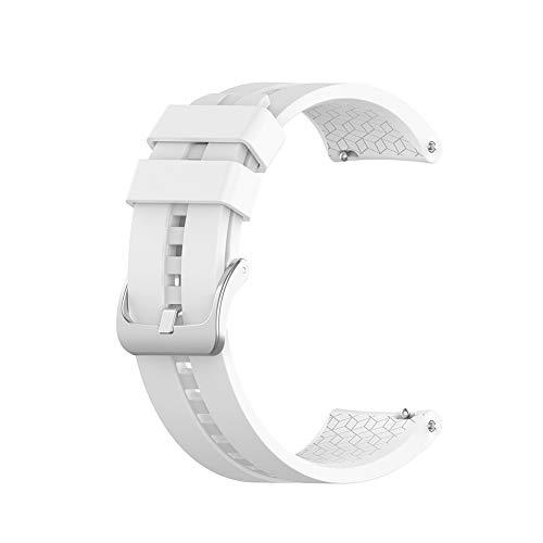 mAjglgE Uhrenarmband, Ersatz Silikon verstellbare Handschlaufe Band für Huawei Uhr GT Elegant White - White-band-uhr