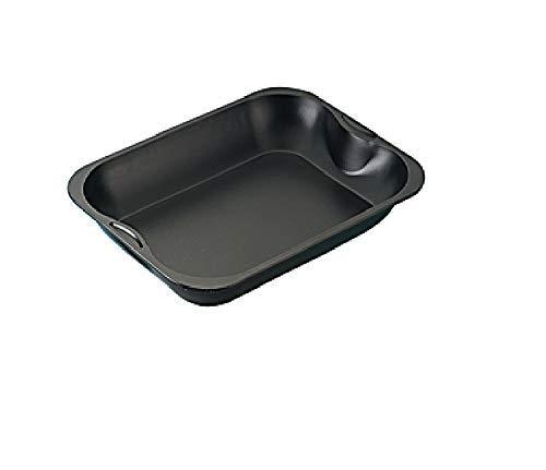Zenker Brat- und Auflaufform (40 x 5 x 30 cm) SPECIAL COOKING, rechteckige Ofenform mit Antihaftbebeschichtung, Backblech für krosse Braten & saftige Aufläufe (Farbe: Schwarz), Menge: 1 Stück