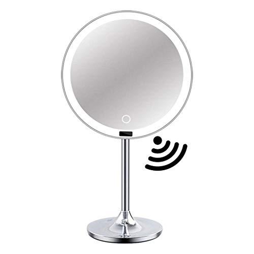 YYLNB LED Iluminado Maquillaje Espejo con el Sensor, Control táctil y Regulable, Recargable, 8,5