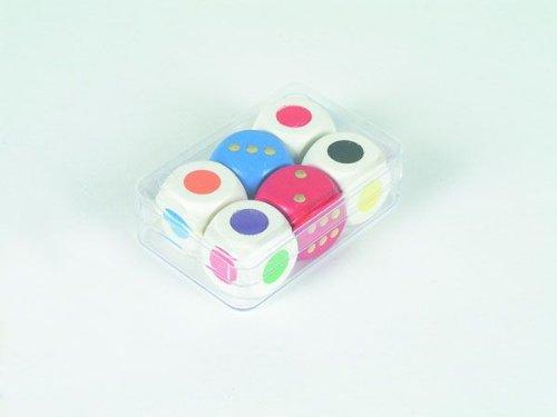 4er Farbwürfel-Set aus Ahornholz (16 mm)