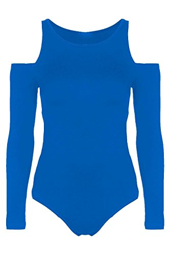 Chocolate Pickle ® Damen Cut Sleeve Gymnastikanzug Bodysuits 36-50 Royal Blue