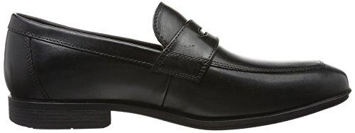 Rockport Herren Style Connected Penny Slipper Schwarz (Black Leather)