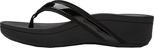 Vionic Womens 380 Hightide Pacific Leather Sandals Black