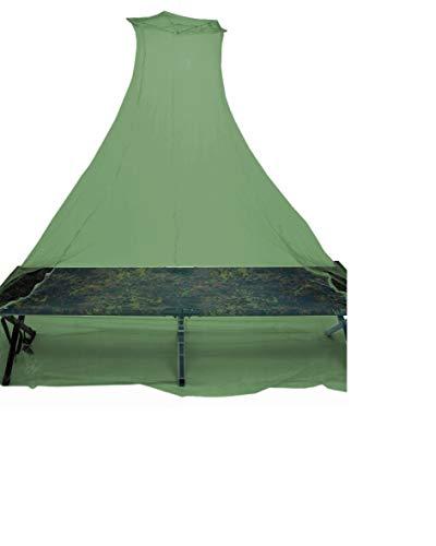 BKL1® Moskitonetz mit Transportbeutel Camping Outdoor leicht Oliv Mückenschleier Insektenschutz 1526