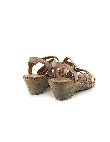 Vita Sandalo Pelle Unica Beig Beige