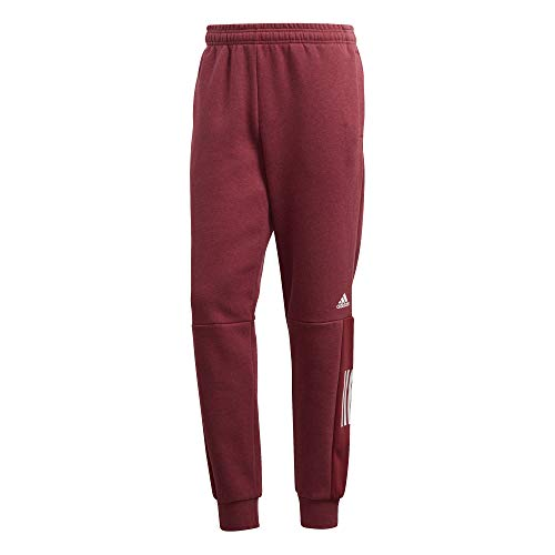 Cargo Fleece Parka (adidas Herren Sports ID Logo Fleece Hose, Melange/Noble Maroon, XL)