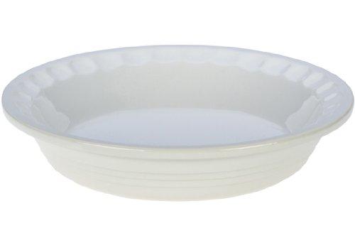 Le Creuset Stoneware Pie Pans, 9-Inch, White