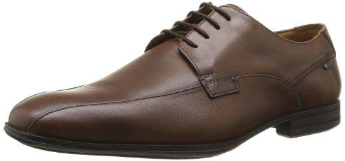 Clarks Derry Over GTX 2035 Herren Schnürhalbschuhe Braun (Walnut Leather)