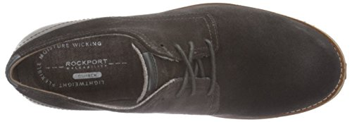 Rockport Herren Ledge Hill Too Plain Toe Blucher Derby Braun (DK BTR CHOC)