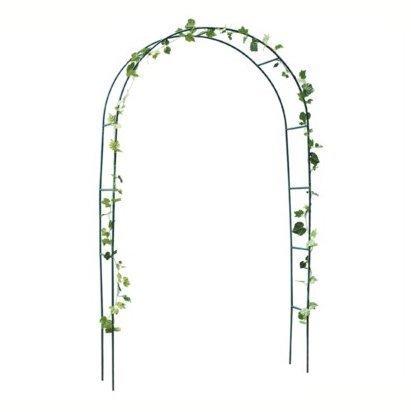 Shopmonk, garden rose arch, arco di rose rampicanti su sostegno di metallo, graticcio per portale ad arco di rose, 2,4 m.