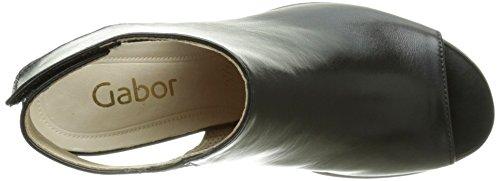 Gabor - Gabor, Scarpe con cinturino Donna Nero (Schwarz (27 schw.(Sohle sand)))