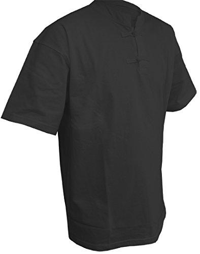 DOUBLE Y Tee shirt col Mao manches courtes NOIR 170 cm