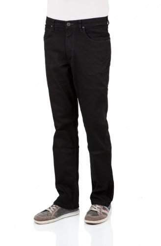 Lee Herren Jeans Brooklyn Straight L452JBCS Regular Fit clean black (Regular Jean Fit Straight)
