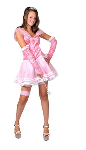 ,Karneval Klamotten' Kostüm Prinzessin Dame rosa kurz Kostüm Karneval Märchen Damenkostüm Größe 32/34 (Erwachsene Rosa Prinzessin Kostüme)