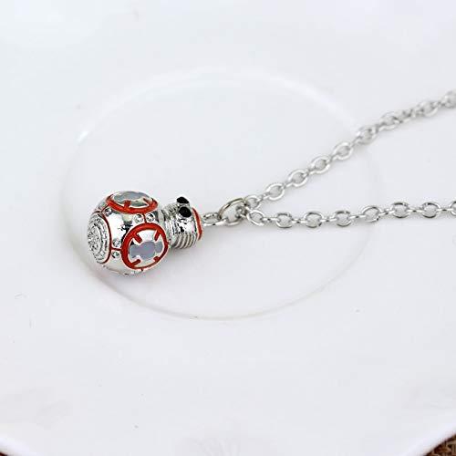 DADATU Halsketten für Herren Frauen Männer Fashion Schmuck Star Wars Halskette Bb8 Bb-8 R2d2 Droid Robot Halskette Halskette Chain Chain Chake Chake Collares