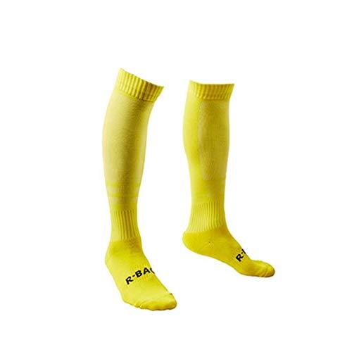R-BAO Jacquard Männer Knee High Elastic Sports Socken atmungsaktiv Fußballtraining Fitness Lange Socken -