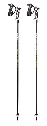 LEKI Erwachsene Skistock Carbon 14 S, Base Color: Black/Design: Cyan-Yellow-Anthr-White, 115 cm, 632-6792
