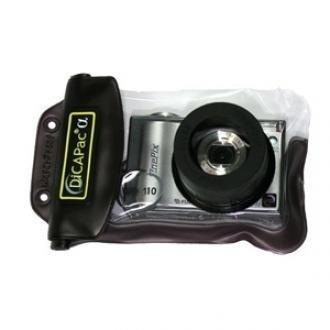 Unterwasser-Gehäuse (WP-110) für Digitalkameras, mit Linse aus kratzfestem Polycarbonat und ausreichend Platz für das ausfahrende Kamera-Objektiv