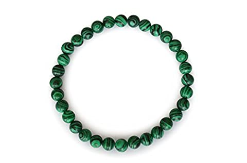 Natural & Books : Bracelet Malachite EXTRA boules 4mm , Pierres Naturelles, Lithotherapie : Apaisement Absorption