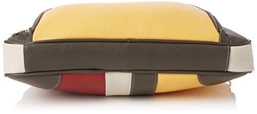 Desigual Bols_yale Tricolor. 3000. U - Donna, Rosso (Carmin), 4.6x28.3x30.2 cm (b x h t)