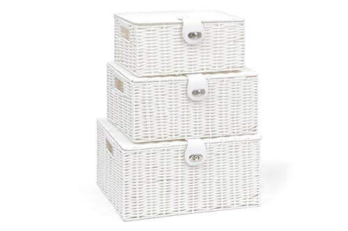 ARPAN - Juego 3 cestas Almacenamiento Resina Tapa