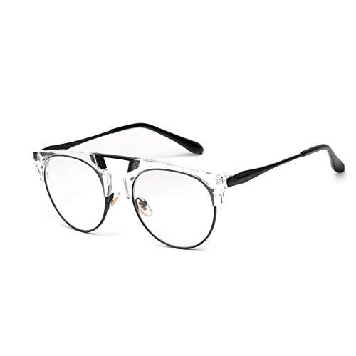 UICICI Retro Brille Large Frame Herren Optische Brille Klare Linse, Unisex (Farbe : Transparent)