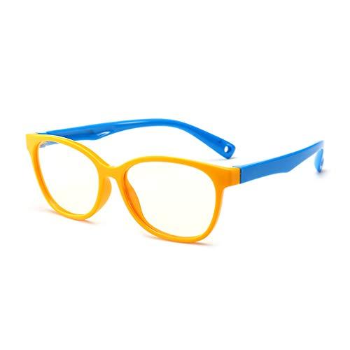 Hibote Mädchen Jungen Anti Blaulicht Brillen - Silikon - Klare Linse Gläser Rahmen Geek/Nerd...