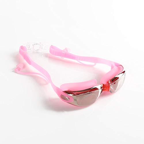 SPOTACT Schwimmbrille Transparenter Anti-Fog-UV-Schutz Keine Undichte Klare Linse Mode Schwimmbrille Für Erwachsene Mann/Frau, Jugendliche, Kinder. (Rosa)