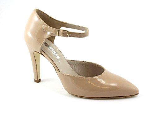 MELLUSO E1607 Chaussures Nu Chair Femme Peinture Bout de Sangle Dcollet Beige