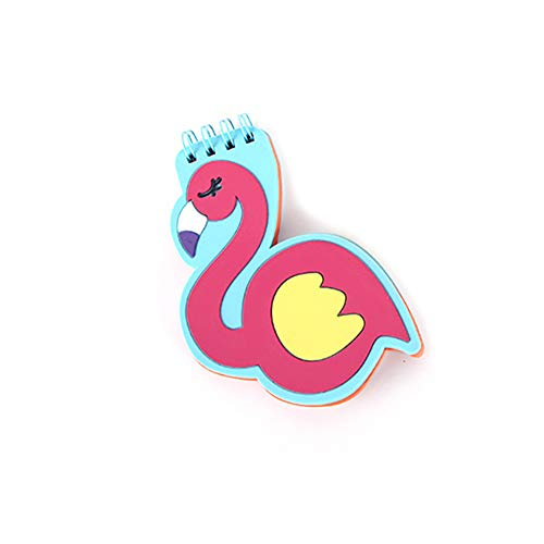 löcke Mini Flamingo Spirale Notebooks mit PVC Abdeckung für Schüler |Flamingo Bürobedarf ()
