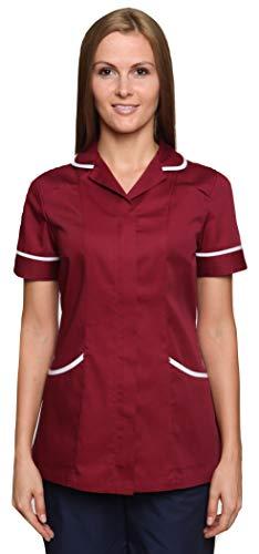 Mirabella Health & Beauty Damen Medizin Und Pflege Kasack Nightingale Rötlichbraun-Weiß Gr. 46 - Rote Medizin