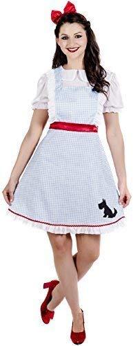 Fancy Me Damen Klassische dororthy Welttag des buches-Tage-Woche TV Film Kostüm Kleid Outfit 8-22 - Blau, UK - Dorothy Pet Kostüm