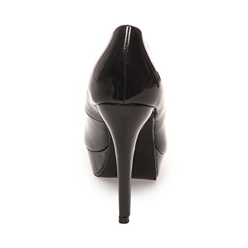 La Modeuse Escarpins Femme Vernis Noir