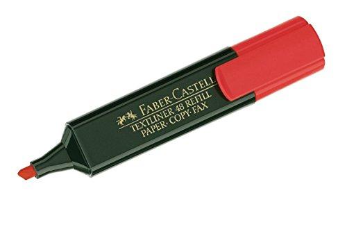 Faber Castell 943851 – Marcador fluorescente, color rojo