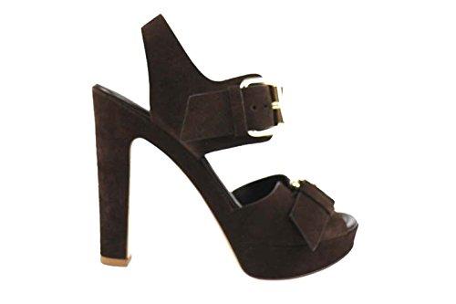 Scarpe donna LELLA BALDI sandali T.moro camoscio AP827 (36 EU)