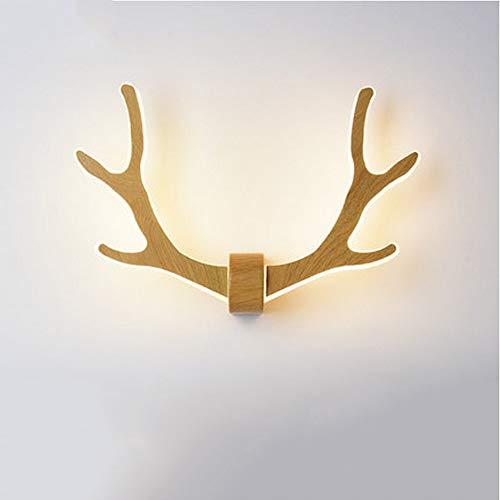 Viraaty LED warm weiß Log Flur Wand hängen Wandleuchte eleganten Stil einfache moderne 26W Wandleuchte energiesparende Kinder Bett Bett Licht/Treppenlicht/Wohnzimmer Lampe (Color : Black) -