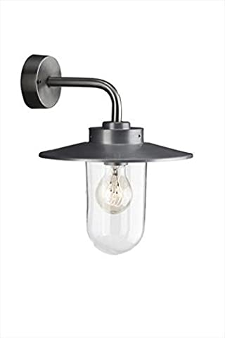 Massive Vancouver Outdoor Wall Light Stainless Steel (Requires 1 x 60 Watts E27 Bulb)