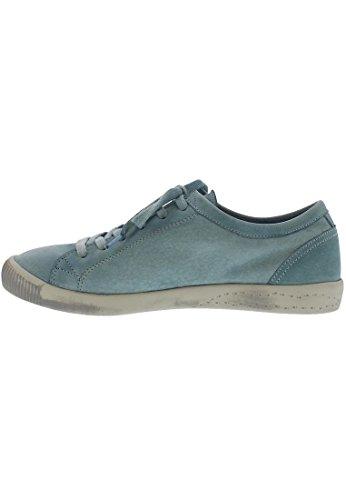 Scarpe Stringate Softi Isla Ladies Derby Blu Pastello