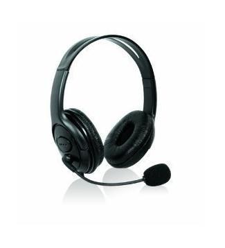 Invero Schwarz Xbox 360 S schlanke Elite Stereo Headset Kopfhörer mit Mikrofon groß -