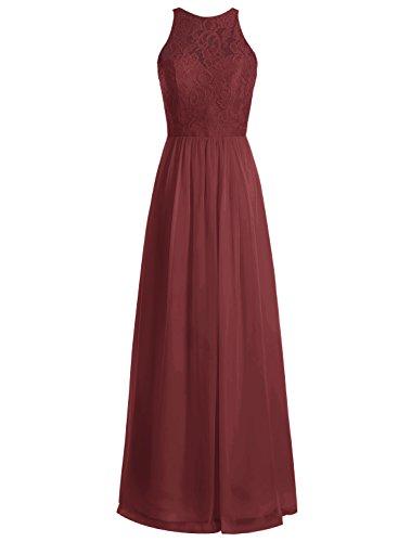 Bbonlinedress Robe de cérémonie Robe de demoiselle d'honneur longueur ras du sol Bordeaux