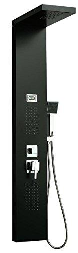 DP Grifería - Columna de hidromasaje en aluminio color negro modelo A-9127
